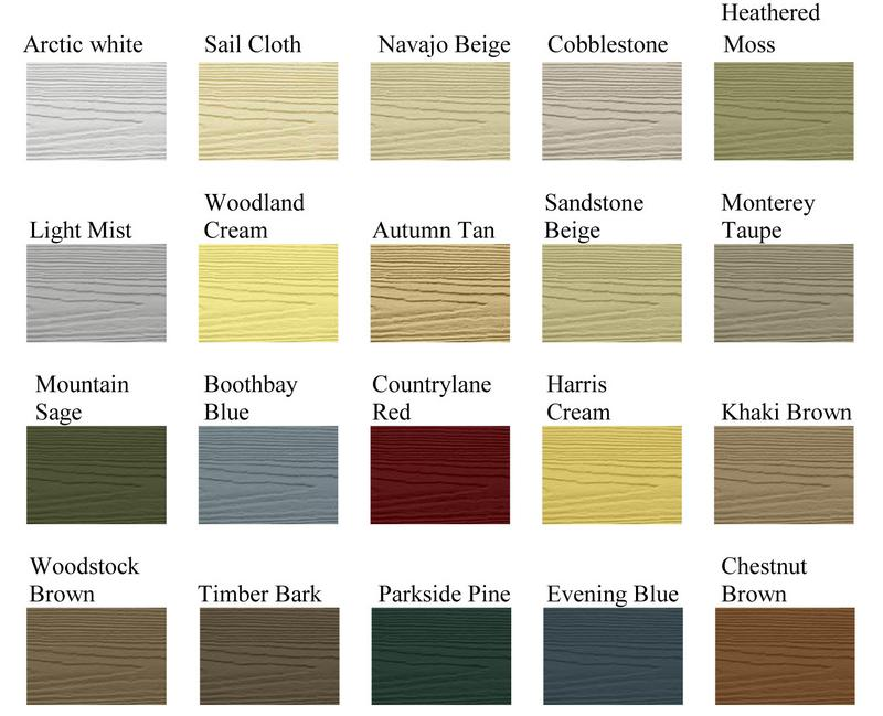 Hardie Color Choices
